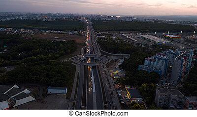 Highway interchange aerial