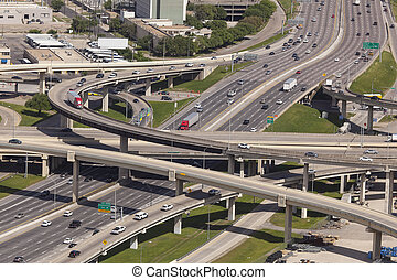 Highway Intersection in Dallas