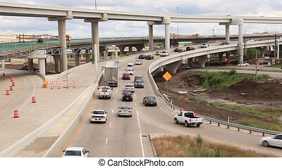 Highway junction in Dallas, USA
