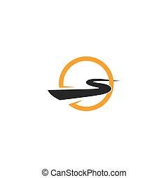 Highway logo and symbol illustration vector design