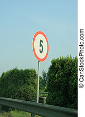 highway mileage signs
