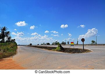 Highway on bluesky