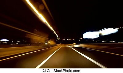 Highway Rage Camera Car High Speed - A time lapse driving in...