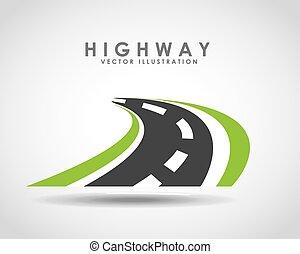 highway road design, vector illustration eps10 graphic