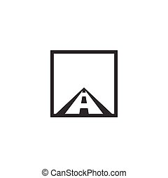 Highway road logo design concept template vector