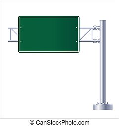 Highway road sign. Road traffic signs on white background.