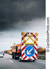Highway security truck