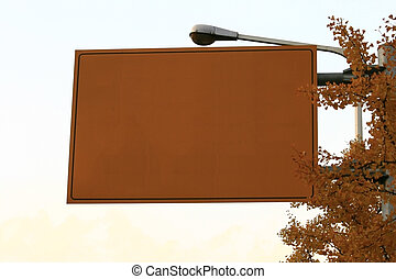 Highway Sign during Autumn - ready for your commercial use