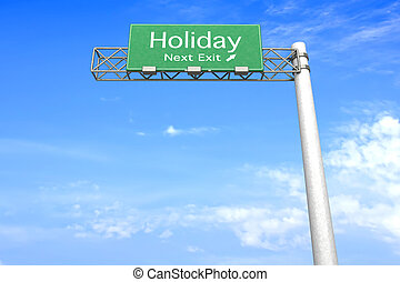 Highway Sign - Holiday