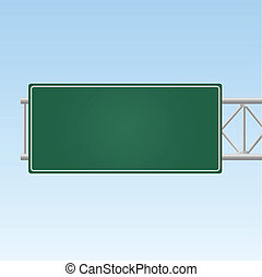 Image of a blank highway sign.