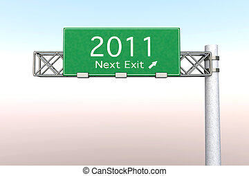 Highway Sign - Next Exit 2011