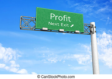 Highway Sign - Profit
