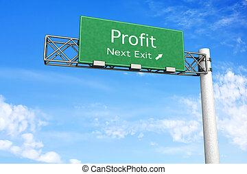 Highway Sign - Profit