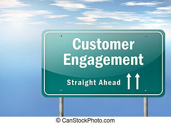 "Highway Signpost ""Customer Engagement"""