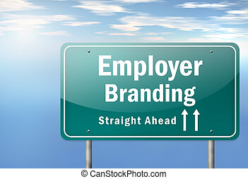 Highway Signpost Employer Branding - Highway Signpost with...
