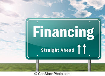 Highway Signpost Financing - Highway Signpost with Financing...