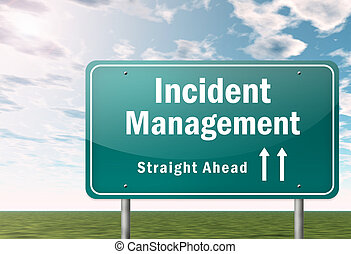 Highway Signpost Incident Management - Highway Signpost with...