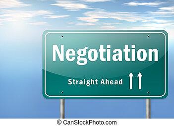 Highway Signpost Negotiation