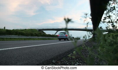 Highway (speedway) at dusk