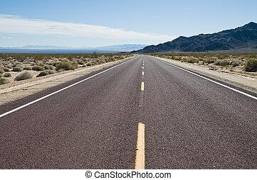 Highway through the Southern California desert