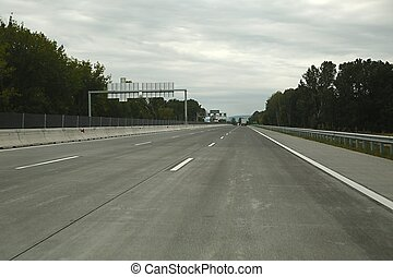 Highway - Empty highway with empty signboard