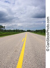 Lonely stretch of highway. Background, copy/text