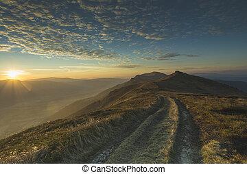 highway to heaven sunset horizontal