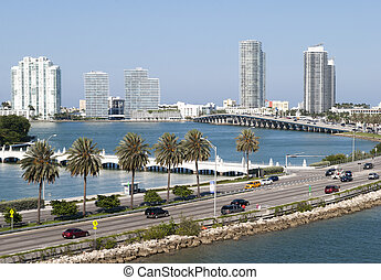 Highway To Miami Beach - The road towards Miami South Beach...