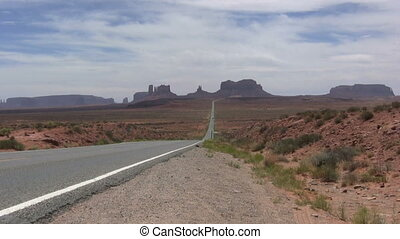 Highway to Monument Valley - the highway leading to monument...