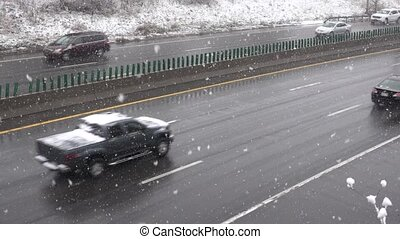 Highway Traffic During Winter