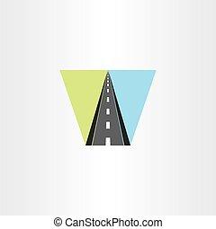 highway vector icon illustration logo sign