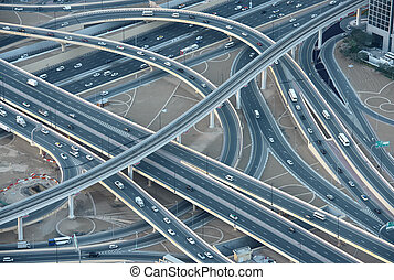 Highways in downtown Dubai