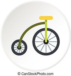 highwheel, bicikli, ikon, karika