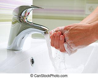higiénia, mosás, takarítás, hands.