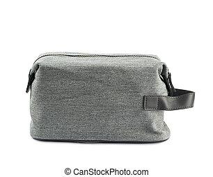 higiênico, cinzento, bolsa, isolado