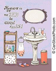 higiene, é, um, tecla, para, boa saúde