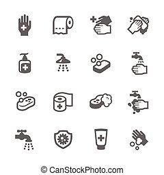 higiene, ícones