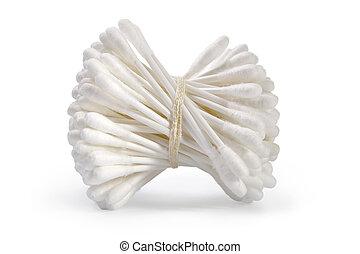 higiene, cotonetes algodão