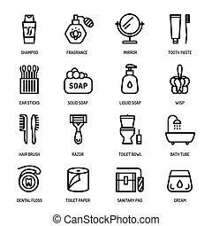 higiene pessoal, ícones