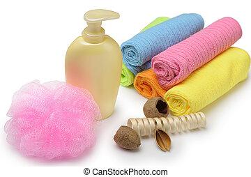 higiene pessoal, jogo, objetos