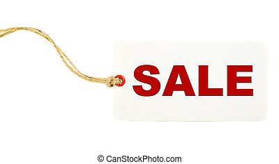White Sale Tag