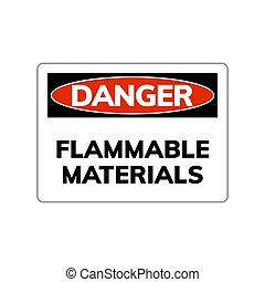 Higly flammable vector sign caution hazard icon. Inflammable...