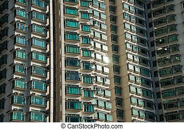 Hign density residential building in Hong Kong