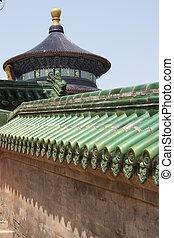 hij, -, architectuur, chinees, tempel