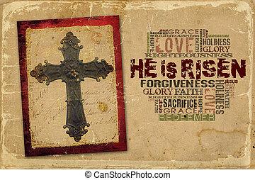 hij, is, risen