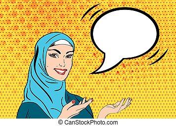 hijab , γυναίκα , τέχνη , κρότος