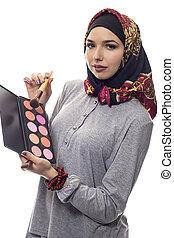 hijab, faire, conservateur, haut, artiste