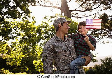 hijo, soldado