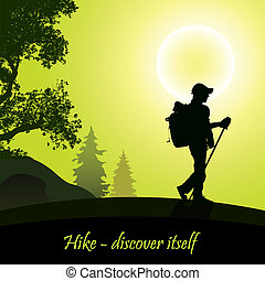 Hike-5 - Hiking man with rucksack