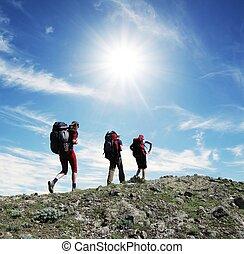 Hike - Backpackers in the hike